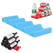 Xiaolanwelc@ Creative Fridge Can Beer Wine Bottle Rack Storage Box Organiser Holder Silicone Mat Stacking Tidy Tool Kitchen Gadgets Bar Tools
