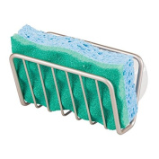 mDesign Kitchen Sink Suction Soap/Sponge Holder for Sponges, Scrubbies, Soap - Satin