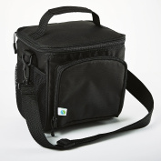 Fit & Fresh Insulated Personal Cooler, Soft Sided 6 Can Capacity, Zipper and Shoulder Strap, for Camping, Work, School