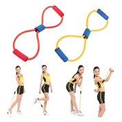 Resistance Band Handles - Exercise Bands With Handles - Fitness Bands Resistance - Resistance 8 Type Muscle Chest Expander Rope Workout Pulling Fitness Exercise Tube Sports Yoga the same strength