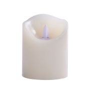 Pandaing 8.3cm x 10cm Realistic Moving Flame Real Wax Flameless Candles with 10-Key Remote Control and 2 4 6 8 Hours Timer Function