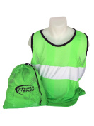 World Sport PRO SERIES Adult Green Scrimmage Vests Set of 12 with Carry Bag