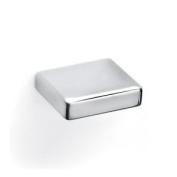 Square Eva Cupboard Cabinet Door Drawer Knobs Slim Modern Metal Chrome 25mm