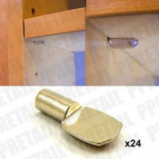 24x Flat Spade Nickel Push In Shelf Support Metal Peg Pin Bookcase Shelf Holder