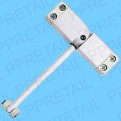 White Surface Mounted Spring Arm Automatic Door Closer