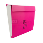 Pink Wall Mounted Outdoor Mail Post Box Secure Home Security Lockable Letterbox