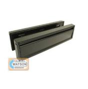30cm Anti-vandal Upvc Door Letter Plate Letter Box Black