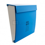 Blue Outdoor Wall Mounted Mail Post Box Letterbox Secure Lockable Home Security