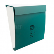 Green Outdoor Wall Mounted Mail Post Box Secure Lockable Home Security Letterbox