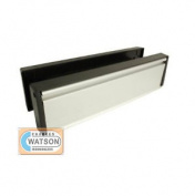 25cm Anti-vandal Upvc Door Letter Plate Letter Box Silver
