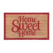 Non Slip 60 X 40cm Heavy Duty Home Sweet Home Coir Doormat Pvc Backed Floor Mat