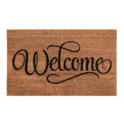 New Durable 60 X 40cm Pvc Backed Non Slip Welcome Doormat Coir Door Entrance Mat