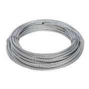 Fixman Galvanised Wire Rope 4mm X 10m - Galvanised Wire Rope 10m 4mm 876416