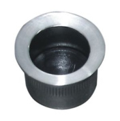 Satin Stainless Steel Round Flush Push 29 X 19mm