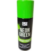 ** 151 Neon Green Spray Paint 200ml New ** High Visibility