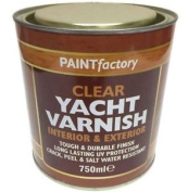 750ml All Purpose Clear Yacht Varnish Tough Durable Can Apply Indoor Outdoor