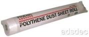 2x Polythene 2m X 50m Dust Sheet Rolls