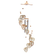 MagiDeal Wind Chime Home 4 Tubes Concentric Hearts Yard Garden Outdoor Decor Gift