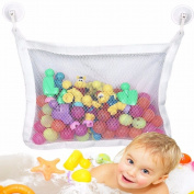 Kids Baby Bath Time Toy Tidy Storage Suction Cup Net Bag Mesh Organiser Bathroom