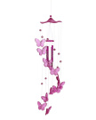 niceEshop(TM) Handmade Butterfly Mobile Wind Chime Bell Aeolian Bells Garden Ornament Lucky Gift,Pink