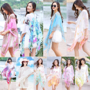 Ladies Beach Shawl Rong Dress Wrap Swimwear Beach Cover Up Scarf Sun Dresses Sy
