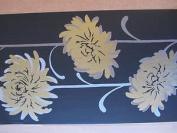 Black Gold Effect Feature Wall Wallpaper Border Pattern Modern Self Adh 62654