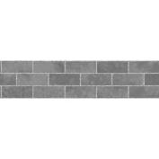 Fine Decor Grey Black Brick Effect Tile Self Adhesive Wallpaper Border