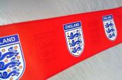 Official Licenced England Red Emblem Football Wallpaper Border