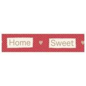 Fine Decor Home Sweet Home Red White Spots Wallpaper Border Self Adhesive