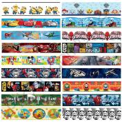 Boys Character Self Adhesive Wallpaper Borders Star Wars, Cars + More Wall Decor