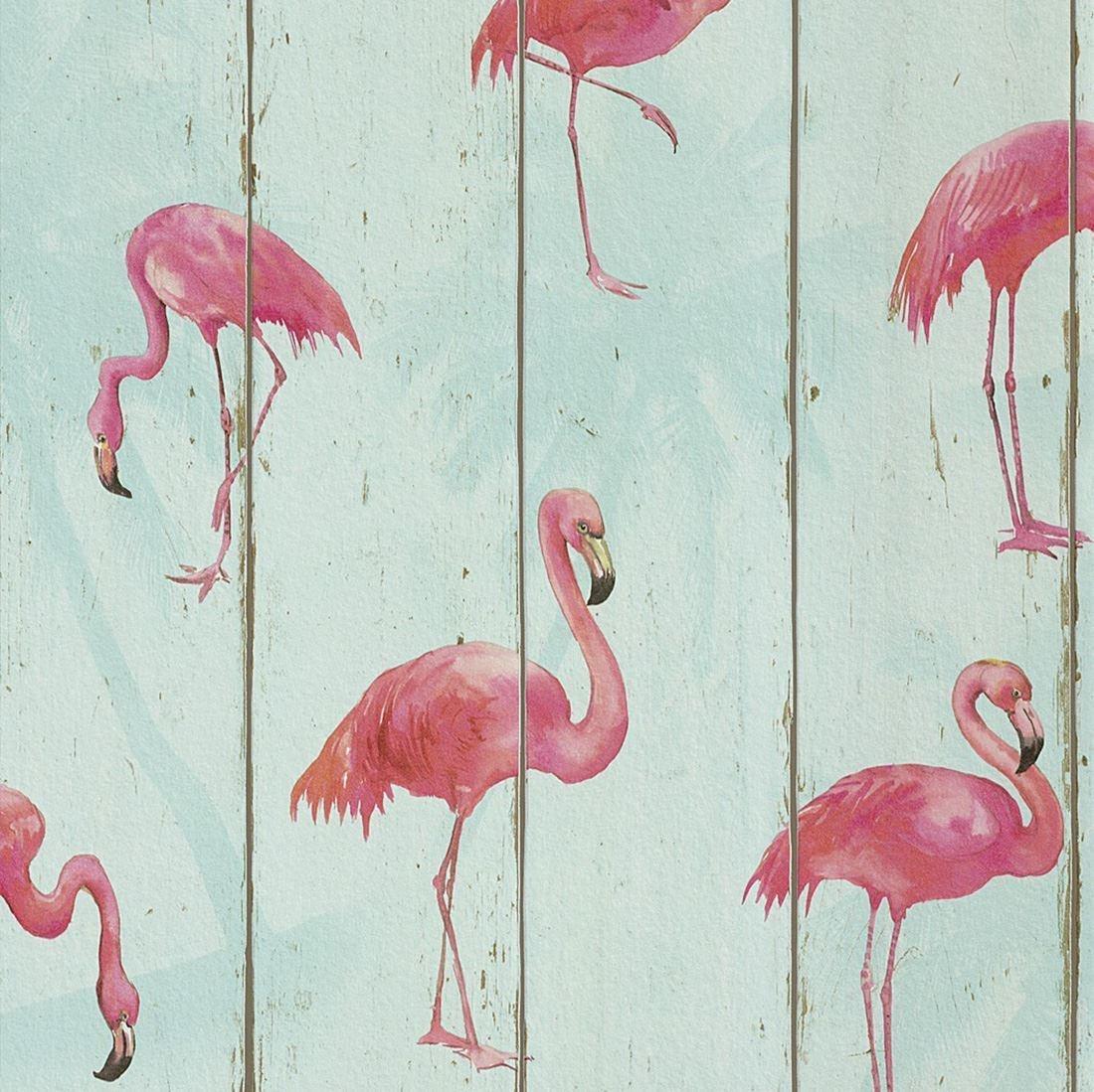 Rasch Barbara Becker Flamingo Wallpaper Teal 479706 Wood Room Decor By Uk Online For Homeware In New Zealand