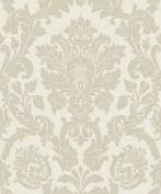 Damask Wallpaper Glitter Effect Shiny Shimmer Kensington Cream