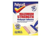 Polycell Plcmswpa20r Maximum Strength Wallpaper Adhesive 20 Roll