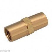 1.6cm Earth Rod Brass Internal Threaded Joiner, Connector For Extending Rods