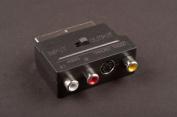 Dencon 21 Pin Scart To 3 Phono Sockets Adaptor Bubble Packed