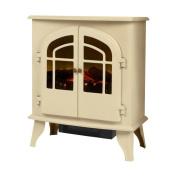 Warmlite 2000w Electric Log Effect Stove Fire Cream Wl46015c