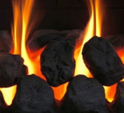 10 Gas Fire Replacement Coals Ceramic Round Large Oval Coal Black