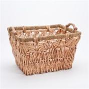 Rectangular Wicker Basket - Storage With Handles 46cmx 56cmx 30cm