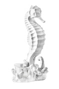 Premier Housewares Seahorse Candle Holder - White. Shipping Included