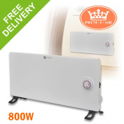 Prem-i-air Slimline 800w Home Wall Floor White Convector Heater 24 Hour Timer
