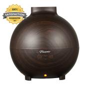 Paxamo 600ml Aromatherapy Essential Oil Diffuser, Large Wood Grain...