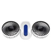 Mini Fan, Towinle Usb Desktop Fan Creative Double Leaf Fan 360 Degree Free Mini