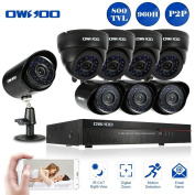 Owsoo 8 Channel Cctv Dvr Camera System With 4x Day Night Dome & 4x Bullet Ahd