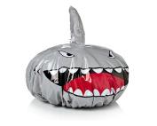DSstyles Shark Shape Shower Cap for Baby Kids Shower Hat Novelty Bath Cap - Sliver