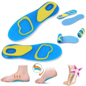Sports Gel Insoles Relieves Sore Feet Insole Gel Active Everyday Shock Absorption Insoles Men and Women Lanspo