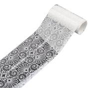 1 Roll nail art transfer sticker white design lace roses #1