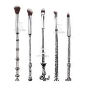 Siver Harry Makupup Brush Set 5pcs Eye Shadow Blending Brushes Fantasy Makeup Tools Kit