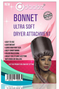 Professional Ultra Soft Styling Bonnet Dryer Hair Hood Attachment - Black