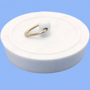 "Quality 1-3/4"" White Bath Plug 45mm Rubber Bathroom Stop Sink Bathtub Universal"
