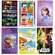 Disney Cartoon Character Kids Childrens Holiday Beach Bath Boys Girls Swim Towel